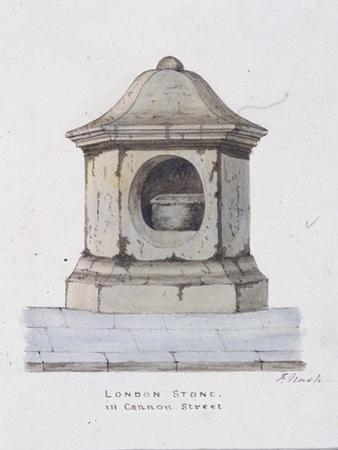 London Stone, Cannon Street, London, C1816