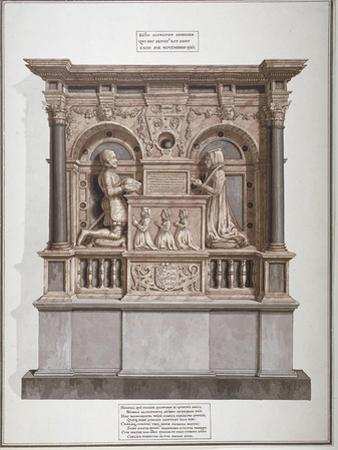 Monument to Richard Allington in Rolls Chapel, Chancery Lane, City of London, 1800