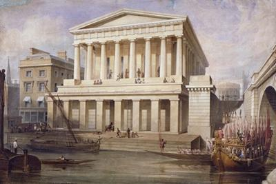 Proposed View of Fishmongers Hall Near London Bridge, City of London, C1830