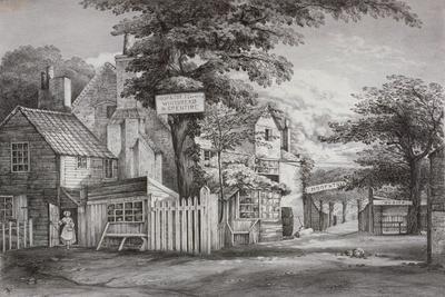 The Hoop and Toy Inn on Brompton Road, Kensington, London, C1820