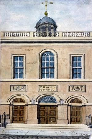 Trinity Chapel, Conduit Street, Westminster, London, 1801