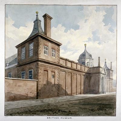 View of the British Museum, Bloomsbury, London, C1807