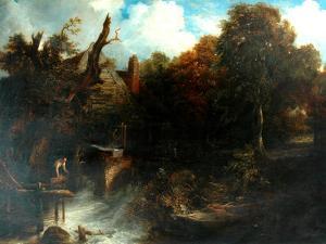Old Water Mill, North Devon by Frederick Richard Lee