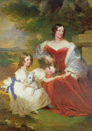T32011 Portrait of Mrs Sarah Frances Cooper and Her Daughters