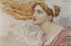 Daughter of King Priam of Troy She was an Infallible Prophetess by Frederick Sandys
