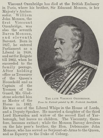 The Late Viscount Oxenbridge by Frederick Smallfield