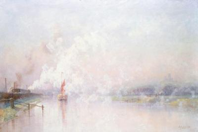 Steaming into Lincoln, 1894
