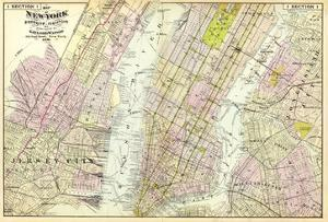New York, Brooklyn, Jersey City, c.1891 by Frederick W. Beers