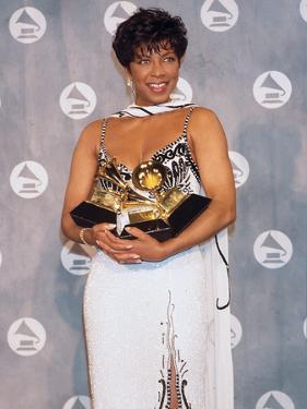 Natalie Cole Cradles Her Statues, 34th Annual Grammy Awards, February 25, 1992 by Frederick Watkins
