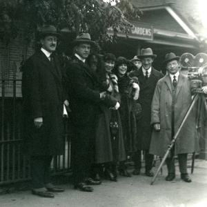 Mr and Mrs Martin Johnson's Party at London Zoo, October 1920 by Frederick William Bond