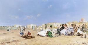 A Sociable Afternoon on the Beach by Frederik Hendrik Kaemmerer