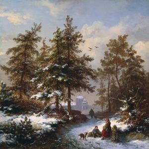 Gathering Firewood by Frederik Marianus Kruseman
