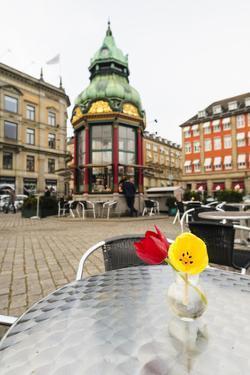 Cafe at Kongens Nytorv, Copenhagen, Sjaelland, Denmark by Fredrik Norrsell