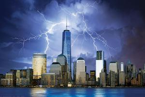 Freedom Tower- Lightning Storm