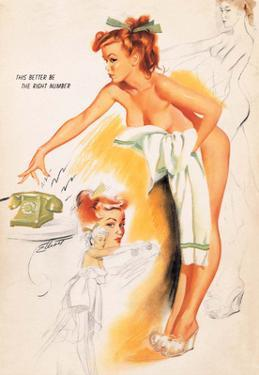 Retro Pin Up, Wearing Nothing but a Towel by Freeman Elliott