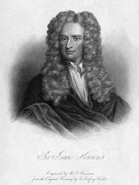 Sir Isaac Newton, English Mathematician, Astronomer and Physicist by Freeman
