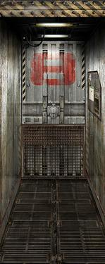 Freight Elevator Door Decal