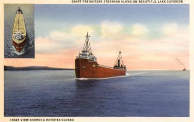 Freighters on Lake Superior, Minnesota