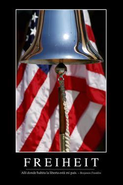 Freiheit: Motivationsposter Mit Inspirierendem Zitat