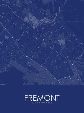 Fremont, United States of America Blue Map