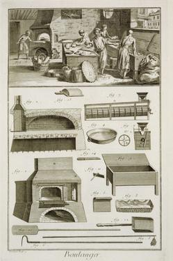 A Bakery and Baking Equipment, from the 'Encyclopedie Des Sciences Et Metiers' by French