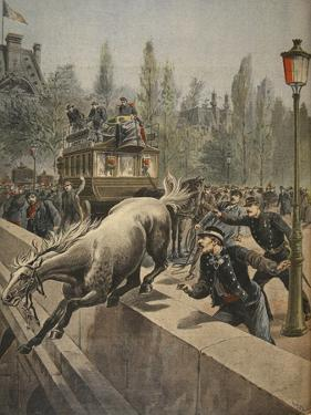 A Horse Committing Suicide, Illustration from 'Le Petit Journal: Supplement Illustre', 1898 by French