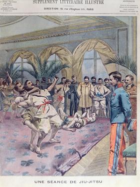 A Jiu-Jitsu Session in France, Illustration from 'Le Petit Parisien', 1905 (Colour Litho) by French