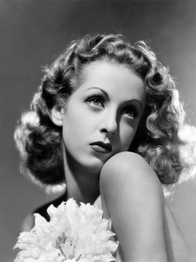 French actress Danielle Darrieux, 1938 (b/w photo)