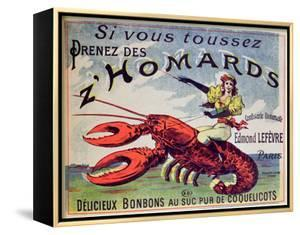 Advertisement for Cough Sweets 'Z'Homards', Late Nineteenth Century (Colour Litho) by French