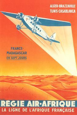 French African Airlines Poster