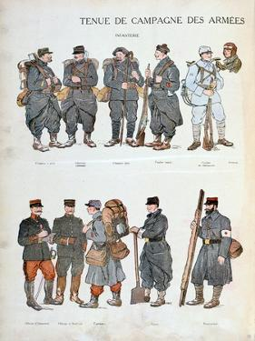 French Army Uniforms, World War One, 1914
