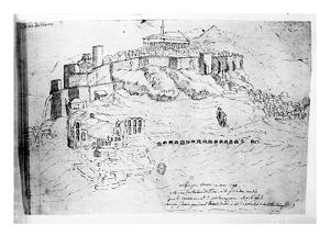 Athens, 1791 (Pen and Ink Drawing) by French