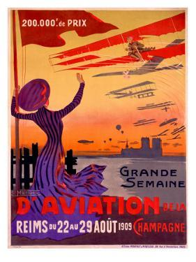 French Aviation Week Air Show Poster