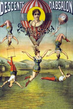 French Balloon Circus Poster
