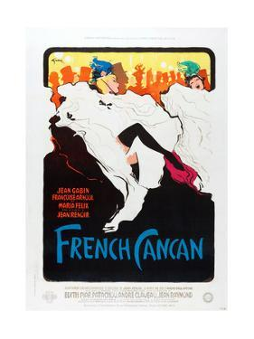 French Can Can, poster art, 1955