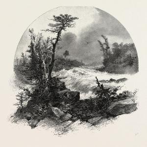 French Canadian Life, Head of Shawenegan Falls, Canada, Nineteenth Century