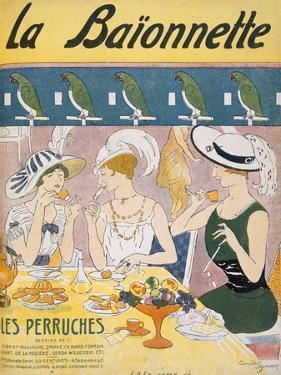 Cover Illustration from 'La Baionnette' Magazine, 1914-18 (Colour Litho) by French