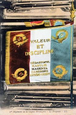 French Foreign Legion Flag, Sidi Bel Abbes, Algeria, 20th Century