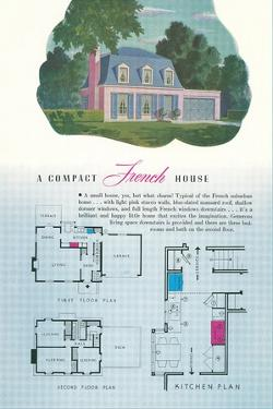 French House and Floor Plan
