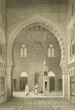 Interior of the Mosque of Qaitbay, Cairo (Litho) by French