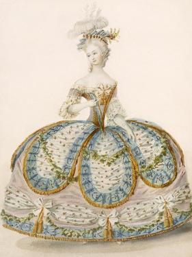 Lady Wearing Dress for a Royal Occasion, Design Attr. to Anvorious, Pub. April 1796 by French