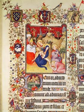 Lat 919 F.77 the Deposition of Christ, from the Grandes Heures De Duc De Berry, 1409 (Vellum) by French