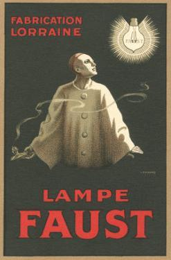 French Light Bulb Advertisement with Pierrot