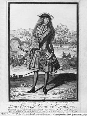 Louis Joseph De Bourbon, Duke of Vendome, known as 'The Great Vendome' (Engraving) (B/W Photo) by French