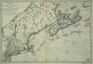 French Map of Nova Scotia and New England during Revolutionary War