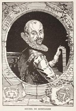 Michel De Montaigne (Litho) by French