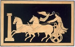 Olympian Charioteer Crowned with a Laurel Wreath, Published 1808-10 (Colour Litho) by French