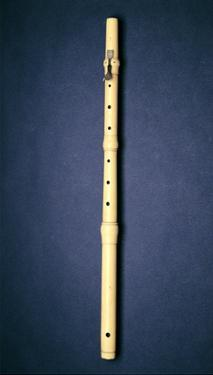 One-Keyed Flute, Made by Naust, Paris, C.1725 (Ivory) by French