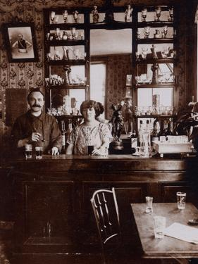 Cafe Owners, 1910 by French Photographer