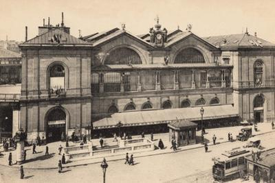 Gare Montparnasse, Paris, 1905 by French Photographer
